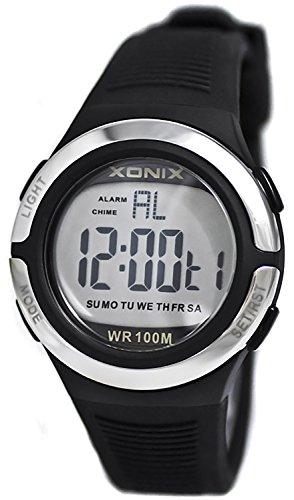 Laessige XONIX Armbanduhr fuer Damen und Teenager mit Licht Alarm Stoppuhr Timer wasserdicht 100m XOJD 1