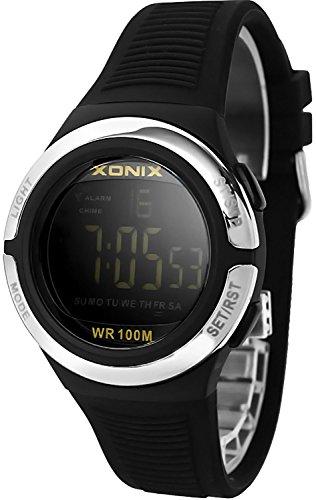 Laessige XONIX Armbanduhr fuer Damen und Teenager mit Licht Alarm Stoppuhr Timer wasserdicht 100m XOJD 7
