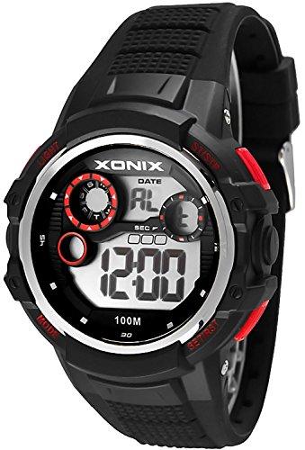 Massive XONIX Armbanduhr fuer Herren und Teenager wasserfest bis 100m Alarm Timer Stoppuhr Licht XPJD 2