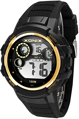 Massive XONIX Armbanduhr fuer Herren und Teenager wasserfest bis 100m Alarm Timer Stoppuhr Licht XPJD 3