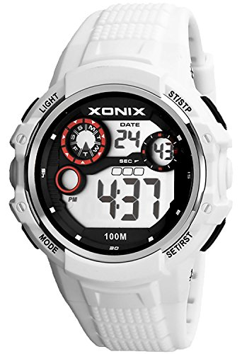 Massive XONIX Armbanduhr fuer Herren und Teenager wasserfest bis 100m Alarm Timer Stoppuhr Licht XPJD 6