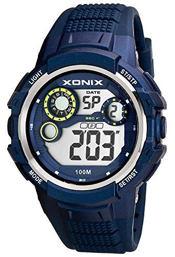 Massive XONIX Armbanduhr fuer Herren und Teenager wasserfest bis 100m Alarm Timer Stoppuhr Licht XPJD 5
