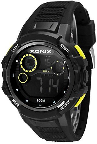 Massive XONIX Armbanduhr fuer Herren und Teenager wasserfest bis 100m Alarm Timer Stoppuhr Licht XPJD 1