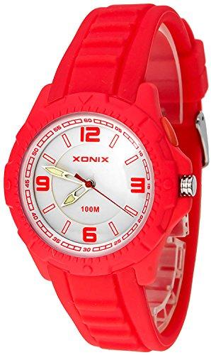 Analoge XONIX Armbanduhr fuer Damen und Kinder wasserdicht bis 100m nickelfrei HIntergrundlicht XAOP 3