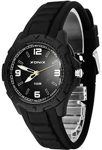 Analoge XONIX Armbanduhr fuer Damen und Kinder wasserdicht bis 100m nickelfrei HIntergrundlicht XAOP 7