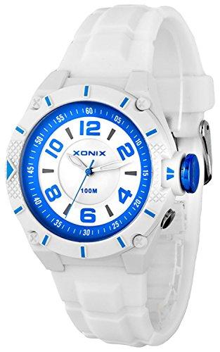 Unisex analoge XONIX Armbanduhr wasserdicht bis 100m nickelfrei grosse Ziffern XGH76F4S 1