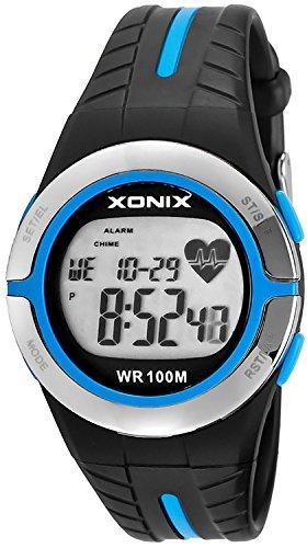 XONIX Unisex Trainingsarmbanduhr Pulsmesser Speicher Personalisierung WR100m XMRH3 5