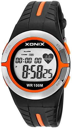 XONIX Unisex Trainingsarmbanduhr Pulsmesser Speicher Personalisierung WR100m XMRH3 2