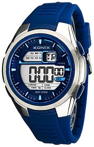 XONIX WR100m sportliche digitale Armbanduhr fuer Herren und Jungen XGN81L 2