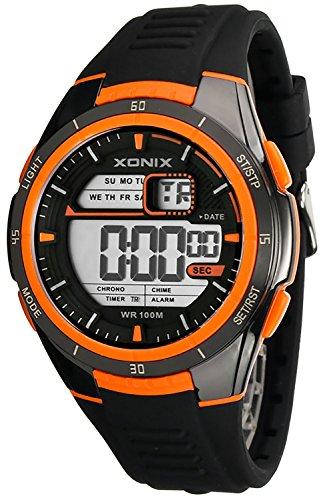 XONIX WR100m sportliche digitale Armbanduhr fuer Herren und Jungen XGN81L 1