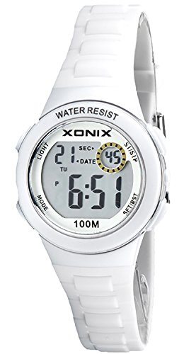 Zauberhafte sportliche XONIX Armbanduhr fuer Damen und Kinder WR100m Timer Alarm Stoppuhr XDM62K 6