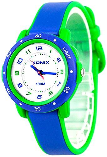 Zauberhafte XONIX Armbanduhr fuer Damen und Kinder nickelfrei Licht WR100m XAKC11 5