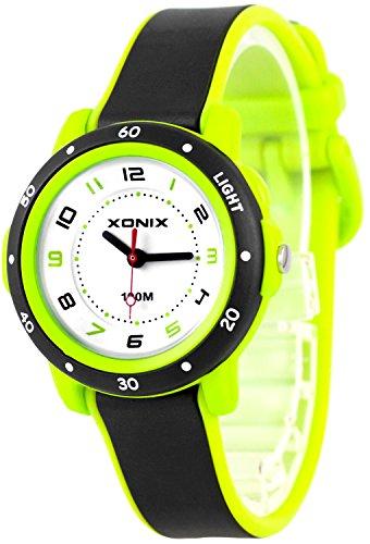 Zauberhafte XONIX Armbanduhr fuer Damen und Kinder nickelfrei Licht WR100m XAKC11 6