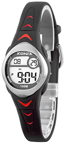 Zauberhafte kleine XONIX Armbanduhr fuer Maedchen mit Alarm Stoppuhr Timer WR100m LE 8