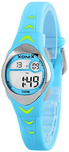 Zauberhafte kleine XONIX Armbanduhr fuer Maedchen mit Alarm Stoppuhr Timer WR100m LE 3