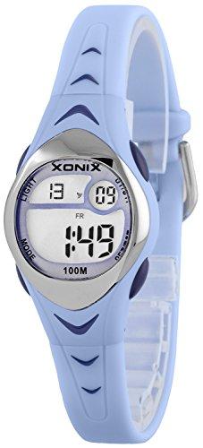 Zauberhafte kleine XONIX Armbanduhr fuer Maedchen mit Alarm Stoppuhr Timer WR100m LE 5