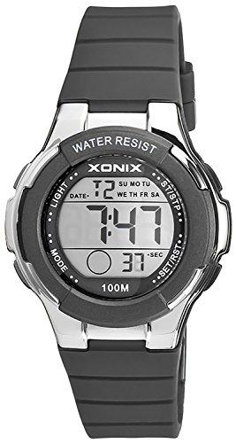 Zierliche digitale XONIX Armbanduhr fuer Damen und Kinder Timer Alarm Stoppuhr XDR98K 1