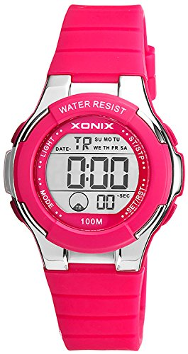 Zierliche digitale XONIX Armbanduhr fuer Damen und Kinder Timer Alarm Stoppuhr XDR98K 3
