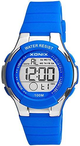Zierliche digitale XONIX Armbanduhr fuer Damen und Kinder Timer Alarm Stoppuhr XDR98K 6