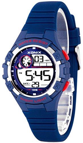 Zierliche Damen und Kinder XONIX Armbanduhr digital nickelfrei WR100m XDFD635 6
