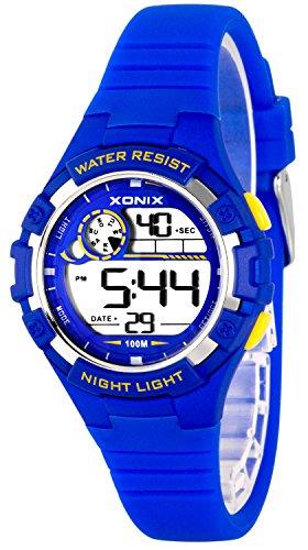 Zierliche Damen und Kinder XONIX Armbanduhr digital nickelfrei WR100m XDFD635 1