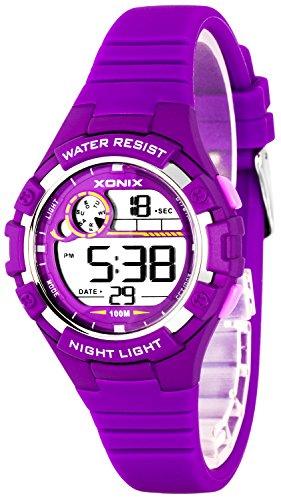Zierliche Damen und Kinder XONIX Armbanduhr digital nickelfrei WR100m XDFD635 4