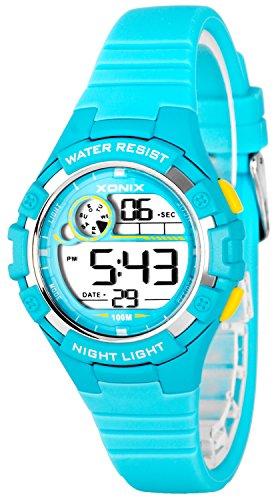 Zierliche Damen und Kinder XONIX Armbanduhr digital nickelfrei WR100m XDFD635 3