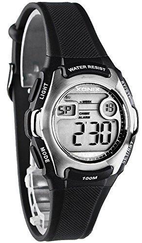 Zierliche XONIX Armbanduhr fuer Damen und Kinder digital WR100m YF 3