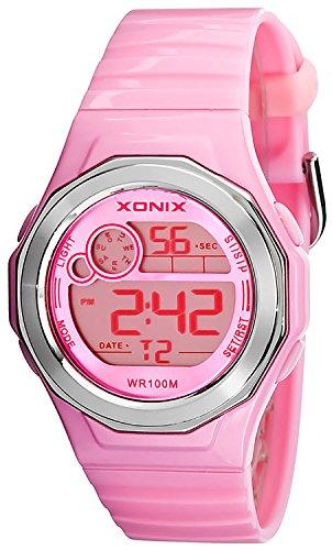 Zierliche XONIX Armbanduhr fuer Damen Teenager WR100m Alarm Stoppuhr Timer vorhanden XDHK 6