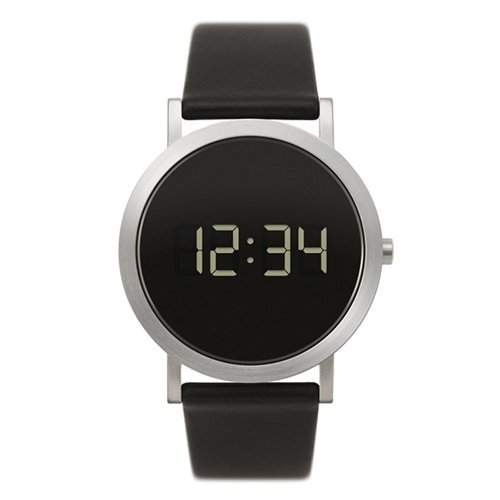 Normal Timepieces - Digital Grande - Stahl LED Unisex Leder Uhren
