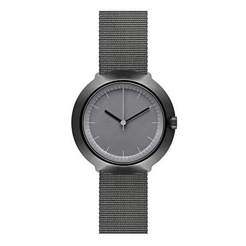 Normal Timepieces - Fuji - Edelstahl Gebuerstet IP Schwarz Grau Nylon Unisex Uhren