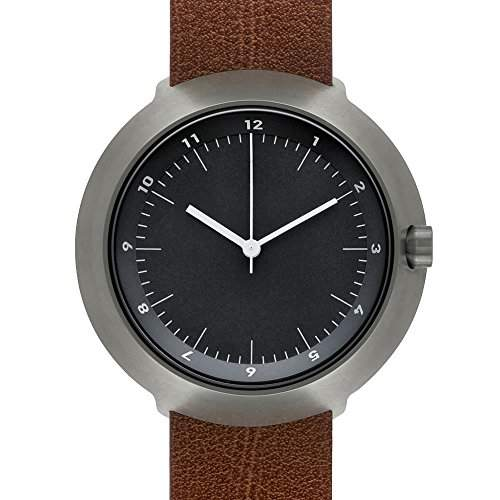 Normal Timepieces - Fuji - Gunmetal GreyBlackBrown Leather