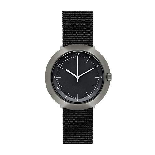 Normal Timepieces - Fuji - Edelstahl Gebuerstet IP Grau Nylon Schwarz Unisex Uhren