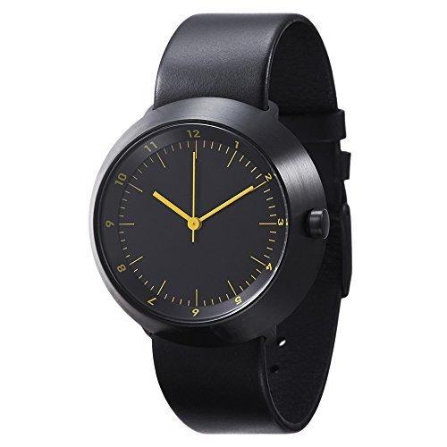 Normal Timepieces Fuji Edelstahl Gebuerstet IP Schwarz Bernstein Unisex Uhren