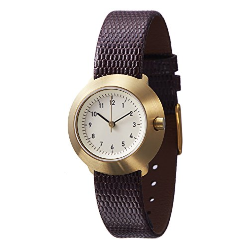 Normal Timepieces Fuji Edelstahl Gebuerstet IP Gold Weiss Leder Braun Frau Uhren