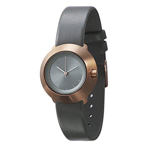 Normal Timepieces Fuji Edelstahl Gebuerstet IP Rosegold Grau Leder Frau Uhren