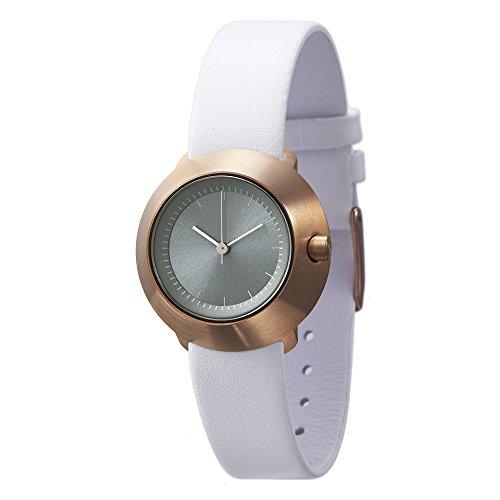 Normal Timepieces Fuji Edelstahl Gebuerstet IP Rosegold Grau Leder Weib Frau Uhren