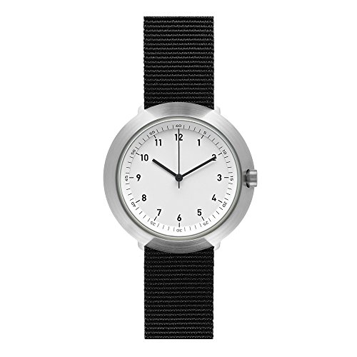 Normal Timepieces Fuji Edelstahl Gebuerstet Weiss Nylon Schwarz Unisex Uhren