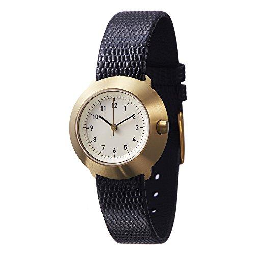 Normal Timepieces Fuji Edelstahl Gebuerstet IP Gold Weiss Leder Schwarz Frau Uhren