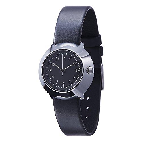 Normal Timepieces Fuji Edelstahl Poliert Leder Schwarz Frau Uhren