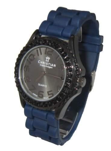 Christian Copenhagen Damen-Armbanduhr Star Analog Quarz Silikon Blau 2525DT