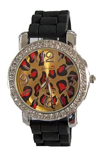 Christian Damen - Armbanduhr Analog Quarz Silikon schwarz A12128-2S11P