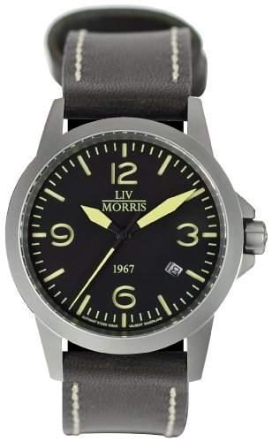 LIV MORRIS 1967 VALBERT No 4 Leder sportliche Herrenuhr Ø 42mm Automatikuhr Edelstahl Saphirglas 10BAR SeaGull-Uhrwerk