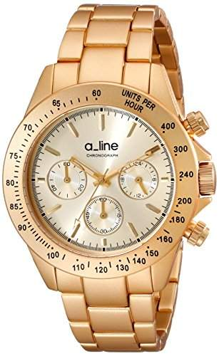 A_LINE AMORE DAMEN 41MM CHRONOGRAPH GOLD ARMBAND MINERAL GLAS UHR 20050-YG