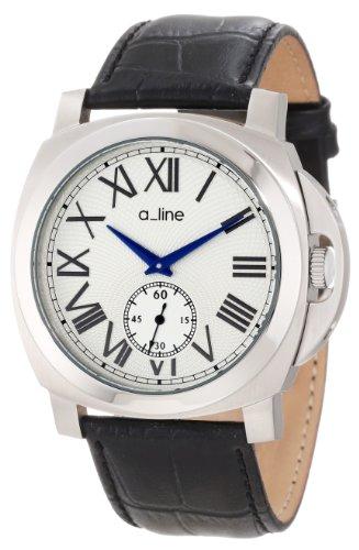 A Line 80007 02 bk Armbanduhr Quarz Analog Armband Leder Schwarz