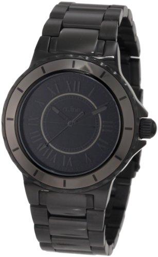 A Line al 20016 Armbanduhr Quarz Analog Armband Edelstahl vergoldet schwarz