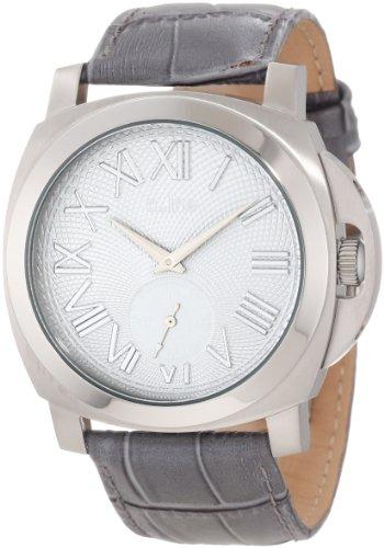 A Line al 80007 014 gr Armbanduhr Quarz Analog Armband Leder grau