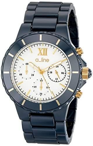 A_line Marina Damen 40mm Chronograph Weiss Keramik Armband Uhr 20041-WWWSR