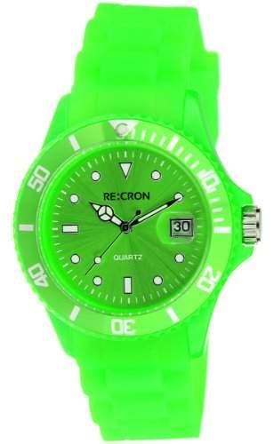 Blaue RE:CRON Unisex Armbanduhr Analog Uhr  verschiedene Farben waehlbar