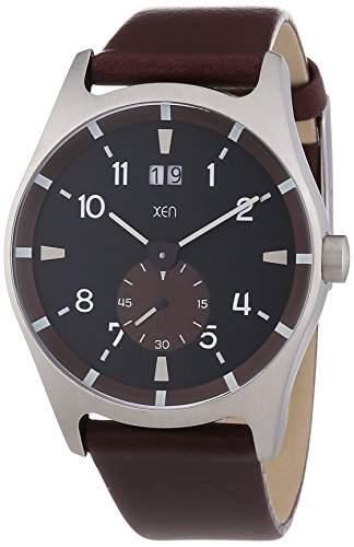 Xen Herren-Armbanduhr XL Analog Quarz Leder XQ0214
